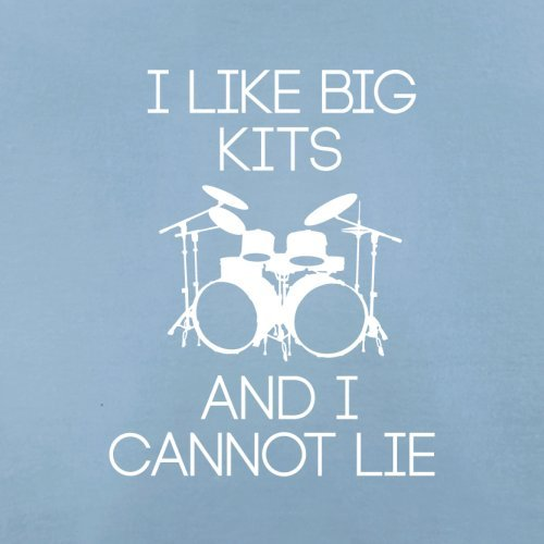 I Like Big Kits And I Cannot Lie - Herren T-Shirt - 13 Farben Himmelblau