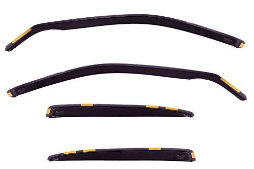 HEKO-28221 SEAT LEON mk1 -1998 2007 Heko Wind Deflectors Tinted 4pcs set