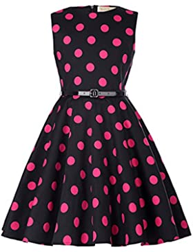 Kate Kasin Maedchen 1950er Vintage Retro Kleid Hepburn Stil Kleid Blumen Kleid