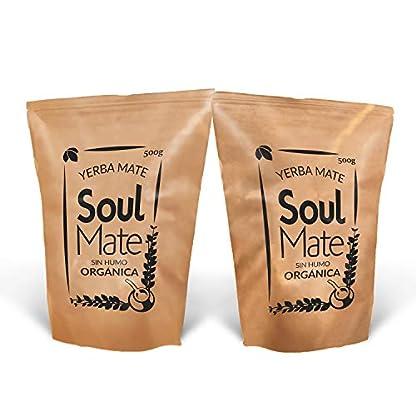 Yerba-Mate-Tee-Soul-Mate-Rauchfrei-Bio-500g-Yerba-Mate-Tee-100-Bio-Hochwertig-Yerba-Mate-Tee-Stark-stimulierend-natrlich-und-glutenfrei