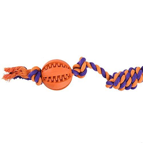 Cane masticare giocattolo palla con corda resistente per indistruttibile aggressive Chewers dente pulizia dentale Treat Dispensing InterActive durevole gomma giocattolo