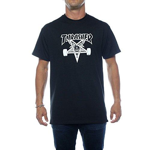 Thrasher maglietta t-shirt maniche corte da uomo colore nero - l