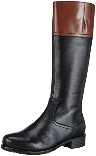 ara Liverpool-St Damen Langschaft Stiefel Mehrfarbig (schwarz,nuss)