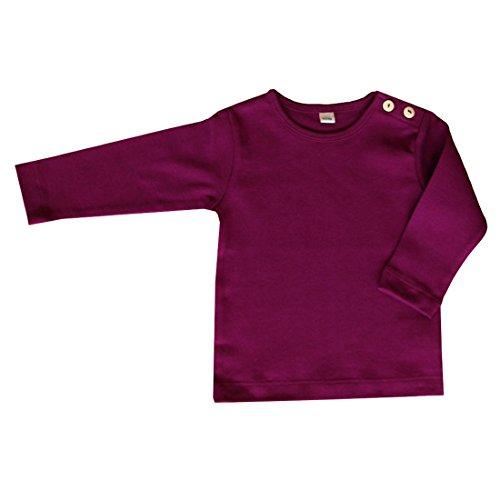 rescence naturel/Baby-Kinder Baby Kinder Langarmshirt Bio-Baumwolle GOTS 13 Farben T-Shirt Shirt Jungen Mädchen Gr. 50/56 bis 140 (50-56, aubergine)