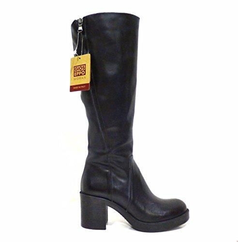 Gioseppo Olenna 37786 stivale donna pelle grigio scuro con tacco medio e zip n° 38