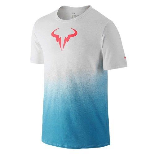 Nike Rafa Tee Herren weiß/blau 658163, Größe:XL