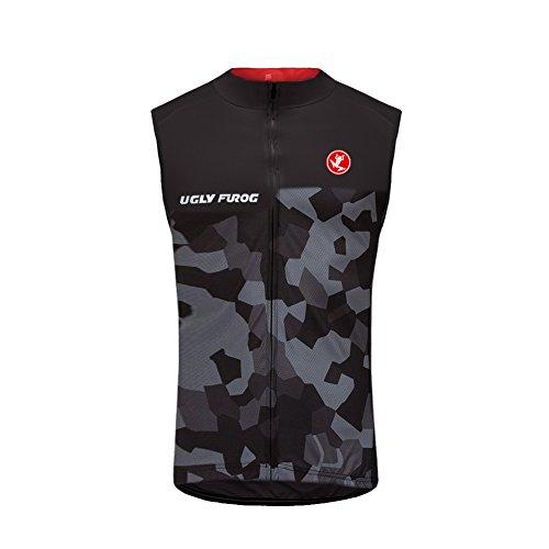 Uglyfrog 2019-2020 Herren Winter Fleece Ärmelloses Männer die Jersey Triathlon Vest Fahrradbekleidung Winter Thermal Warm Rennrad Radweste Besondere Designs
