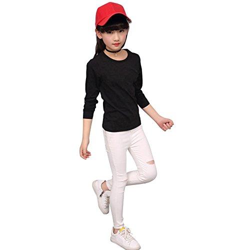 Loveble strappato jeans slim fit per 3-13 ragazze/ragazze adolescenti