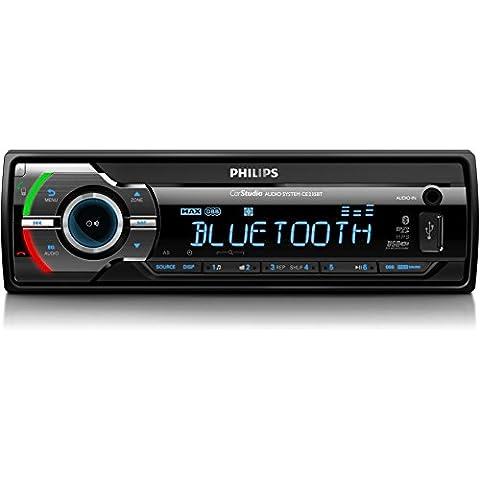 Philips CE CE235BT - Radio para coche (FM, Bluetooth, USB), negro