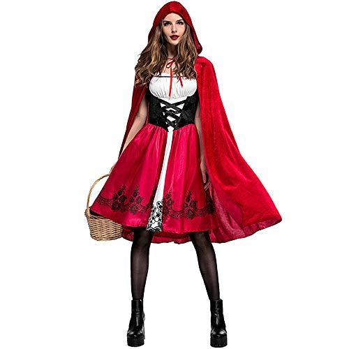 Hukangyu1231 cappuccetto rosso da donna abiti divertente costume da halloween abito con mantella con cappuccio signore costume di halloween (dimensione : xxxl)