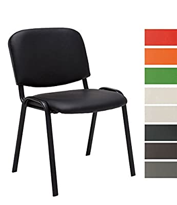 CLP Cheaper Visitor Chair /Stackable Chair KEN Faux Leather, great value, robust and comfortable - cheap UK light store.
