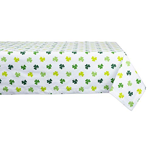 DII CAMZ11200 100% Cotton, Machine Washable, Perfect for Parties, St Patrick's Day & Spring Tablecloth, Seats 6-8 People, 60x84, Limeshamrock Shake