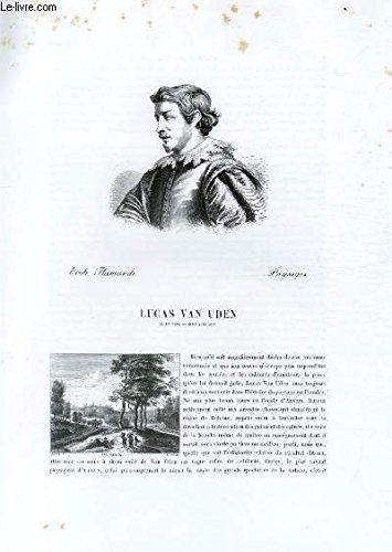 Biographie de Lucas Van Uden ; Ecole Flamande ; Pa...