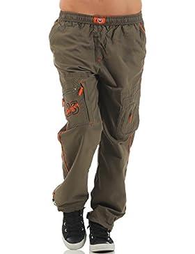 SUCCESS Niño de los niños pantalones de carga casuales Los hombres usan pantalones Chino 5 bolsillo del pantalón...