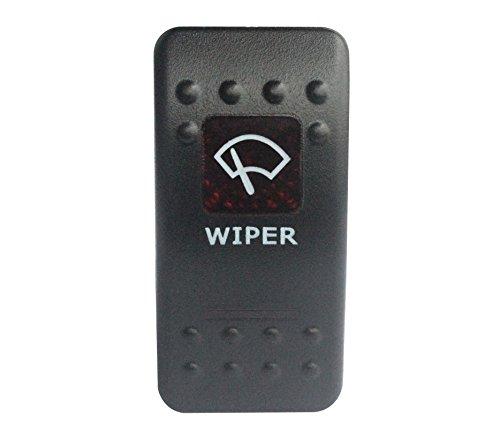 BANDC 12V/24V limpiaparabrisas Rocker Interruptor Rojo LED 7pines ON-OFF-ON DPDT para ARB...