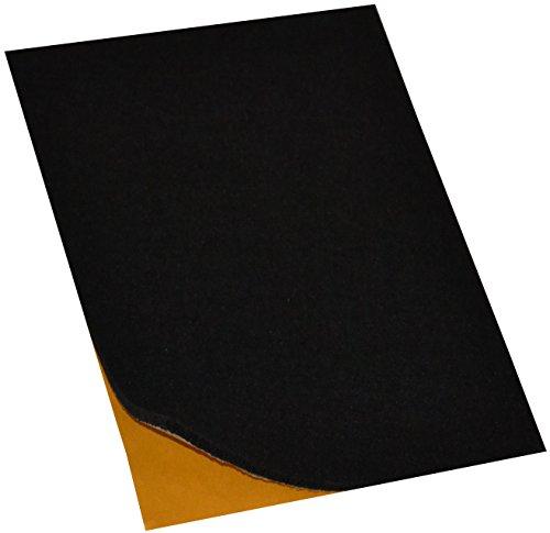 Filzgleiter / Möbelgleiter, selbstklebend, besonders starke Qualität (verschiedenen Farben & Größen), A4, schwarz, 4mm stark