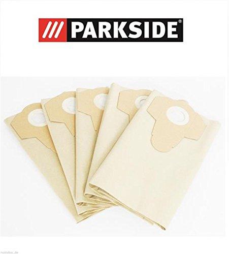 Filtre en papier 30 l pour votre aspirateur eau et poussière PARKSIDE PNTS 1400 F2, ensemble de 5 sacs, LIDL 287974