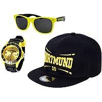 Alsino Dortmund Set Brille Snapack Cap Uhr Armbanduhr Mütze Fanartikel Städte Fanset