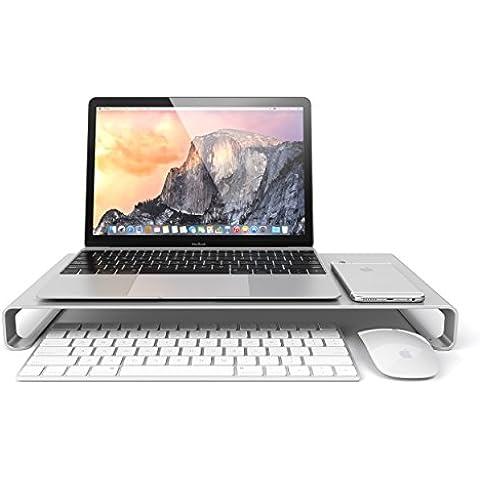 Satechi Soporte de Aluminio de Alta Calidad Universal para Monitor / Laptop / iMac / PC (Plata)