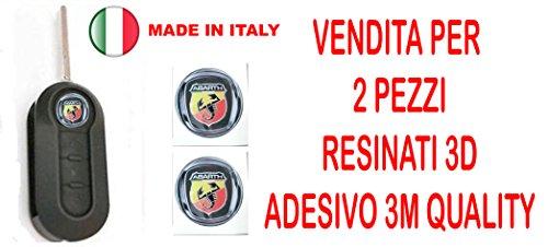 GTBTUNING 14mm Sticker Stickers pour clé logo emblème Badge en résine effet 3d 3m Quality