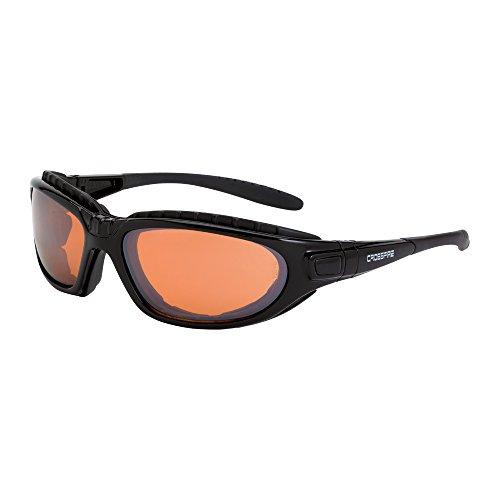Crossfire Eyewear 28216 AF Journey Foam Lined Safety Glasses with Black Frame and Copper Anti-Fog Lens