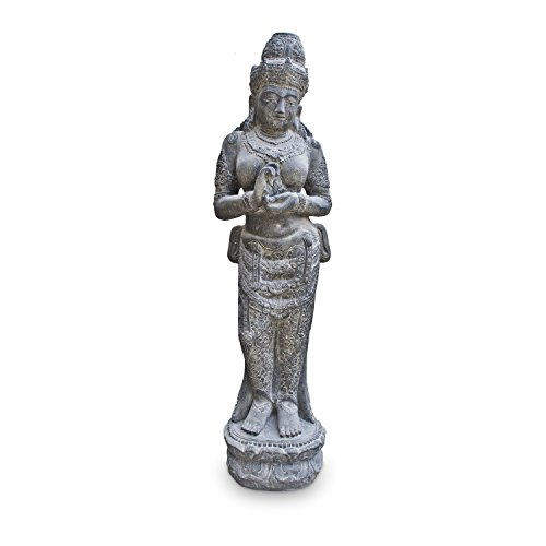 Devi Göttin Hinduismus Figur Skulptur Stein Lavasand Bali Gott Steinfigur Gartenfigur 150cm