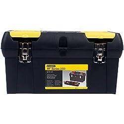 """Stanley Werkzeugbox/Werkzeugkoffer Millenium (19"""", 49x26x25cm, herausnehmbare Ablage, Box mit zwei Organizern für Werkzeuge, robuster Koffer mit Metallschließen, Kunststoffgriff) 1-92-066"""
