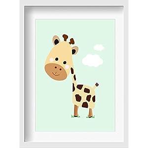 """Bilder Kinderzimmer Poster""""Fräulein Bella"""" – hochwertiger Druck auf Qualitäts-Papier, pastellfarben (ungerahmt) …"""