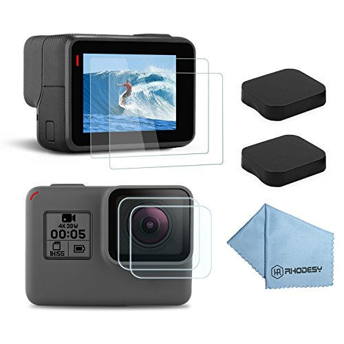 Características del producto: - La pantalla LCD protector de la pantalla de vidrio templado protege su cámara, a prueba de polvo, mancha la prueba, y prueba de cero. - La cubierta de la lente es resistente al uso, que puede proteger su lente de la cá...