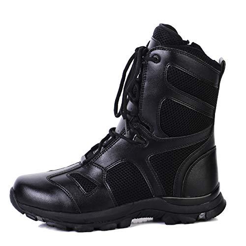 WWJDXZ Botas Militares para Hombres Botas de Combate para Exteriores con Zapato