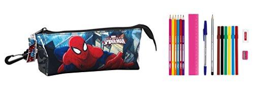 Marvel Spider-Man primavera con estuche 17 tlg. (S708) lleno, 20 x 8,5 x 5 cm