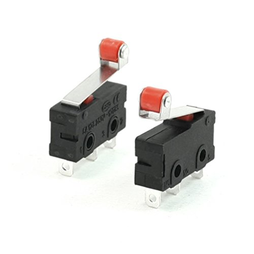 winomo Premium Mini Micro Limit Switch Roller Lever Arm SPDT Snap Action lot- 10Stück (Snap-action Switch)