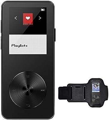 Reproductor de MP3 8GB de VicTsing, Portátil y Brazalete Exclusivo, FM Radio, Apoya Tarjeta de Memoria hasta 32GB (Negro)