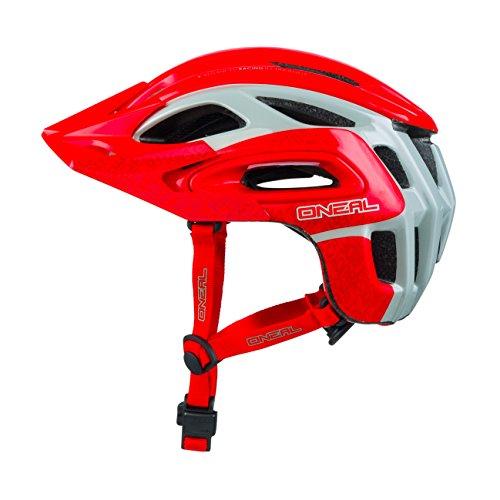 O'Neal Orbiter II Fidlock MTB Helm Grau Rot Mountain Bike Fahrrad Helm, 0616-00, Größe XL/XXL (61-64 cm) (Große Fahrrad-helm)
