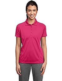 Sport-Tek® Ladies Dri-Mesh® Pro Polo. L474 Pink Raspberry 3XL