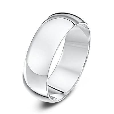Theia Unisex 9ct Yellow Gold, Super Heavy D Shape, Polished Wedding Ring