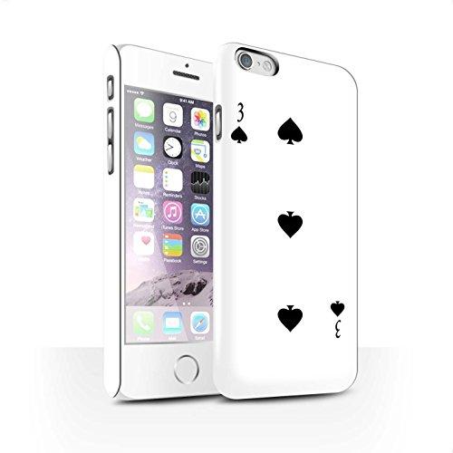 STUFF4 Matte Snap-On Hülle / Case für Apple iPhone 8 Plus / Herz-Ass Muster / Kartenspielen Kollektion 3 von Pik