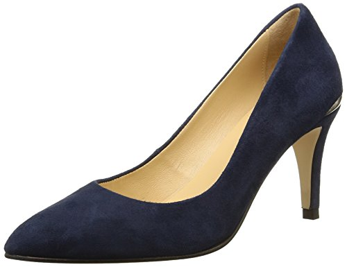 JONAK Damen Aysha Pumps, Blau-Bleu (Velours/Bleu), 38 EU