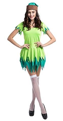 Smile YKK Femme Déguisement Peter Pan Costume Cosplay Pour Halloween Parties