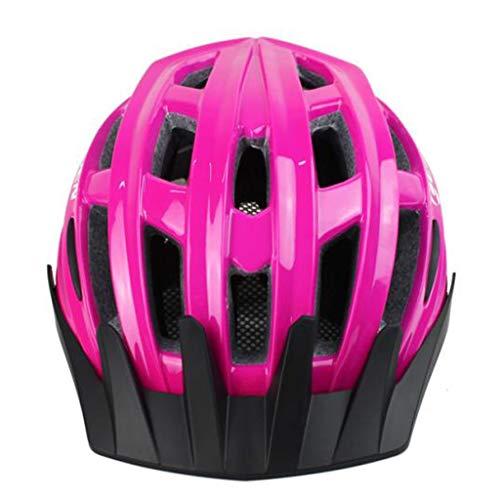 TKXZM Fahrradhelm Erwachsene Radfahren Fahrradhelme Spezialisiert Einstellbare Fahrradhelm for Erwachsene Schutz Reithelm Mountainbike Helm (Color : Pink)