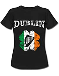 Spreadshirt Dublin Vintage Shamrock Women's T-Shirt