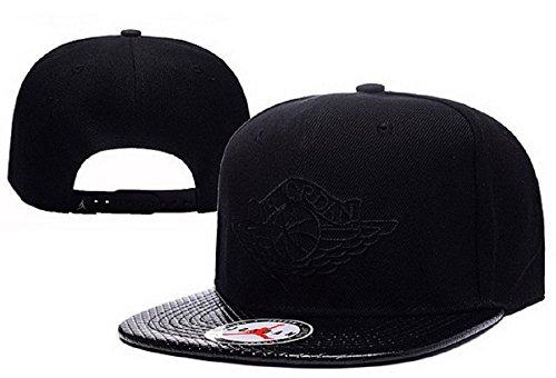 Cappello Air Jordan regolabile Hip Hop Sport Fans Hyst Unisex eresen cappellino da Baseball (Nero, Logo nero, 2)