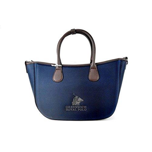 Greenwich Polo Borsa a Mano - Donna - blu