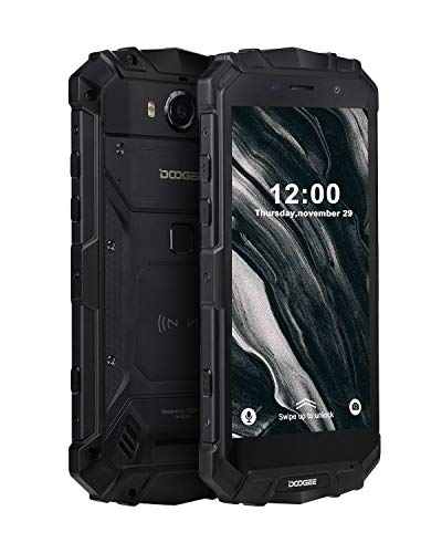 Robuster Outdoor Handy Entsperrt, DOOGEE S60 Lite Wasserdicht Smartphone 4G, 4GB+32GB Dual SIM Freie Android 8.1 Mobil Telefon, 5,2 Zoll FHD Handy, Kameras 16+8MP, 5580mAh/NFC/Gesicht ID/GPS, Schwarz