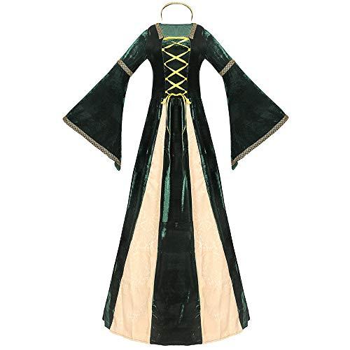 T-XYD Prinzessin Kostüm griechischen Gericht Halloween Königin Kleid Retro europäischen Stil Drama Bühnenkostüme,M (Drama Kostüm Medium)