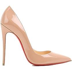 Christian Louboutin Zapatos de Vestir Para Mujer Beige Beige It - Marke Größe, Color Beige, Talla 38.5 IT - Marke Größe 38.5