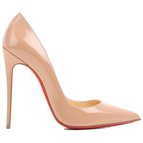 Christian Louboutin - Zapatos de Vestir para Mujer Beige Beige IT - Marke Größe, Color Beige, Talla 38.5 IT - Marke Größe 38.5