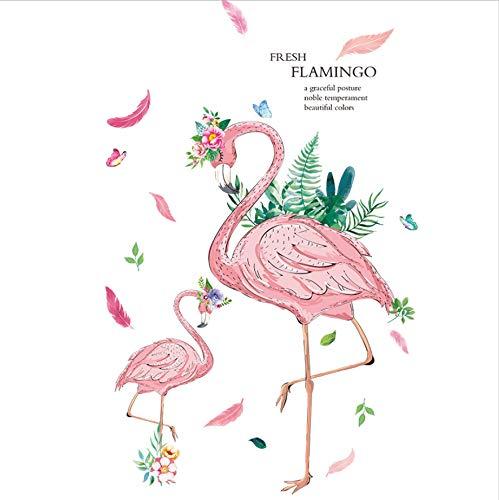 HHZDH Romantische Flamingo Wandaufkleber Material DIY Vögel Wandkunst Für Kinderzimmer Baby Schlafzimmer Kindergarten Dekoration 60X90 cm