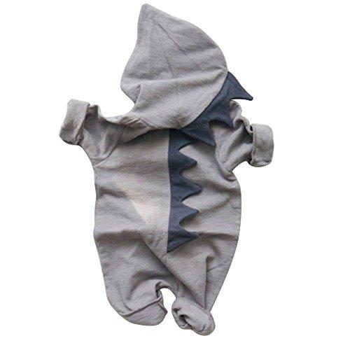 ALCYONEUS Baby Boy Girl Halloween Dinosaurier Kostüm Neugeborene Kleinkind Overall size 6-12M (Grau)