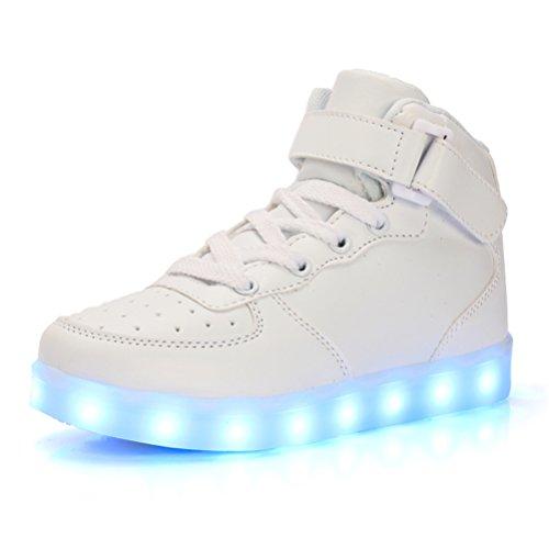 UBFen-Unisex-Zapatillas-con-luces-Alta-7-Colors-USB-Carga-LED-Luz-Luminosas-Flash-Sneakers-Zapatos-Deporte-Para-Nios-Nias-Hombre-Mujer-Deportivos